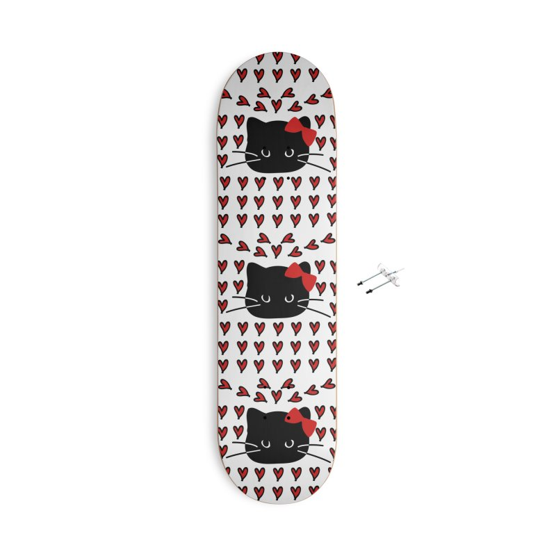 Love Love Cat Accessories With Hanging Hardware Skateboard by cindyshim's Artist Shop