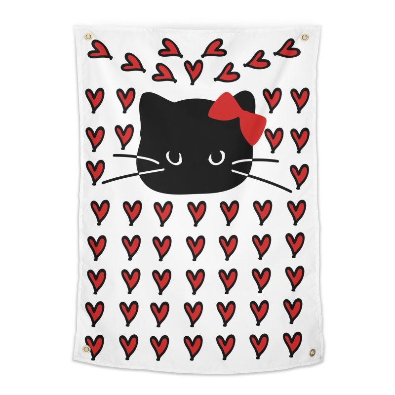 Love Love Cat Home Tapestry by cindyshim's Artist Shop