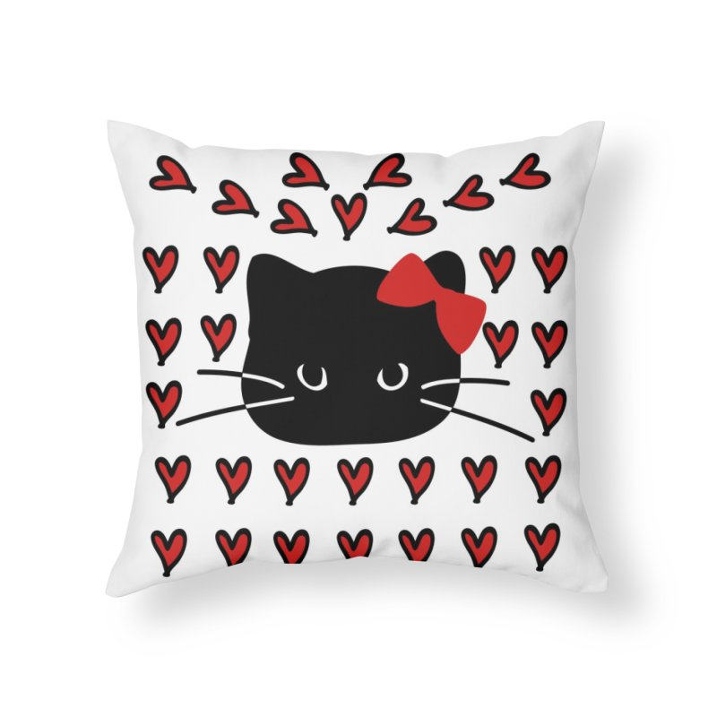 Love Love Cat Home Throw Pillow by cindyshim's Artist Shop