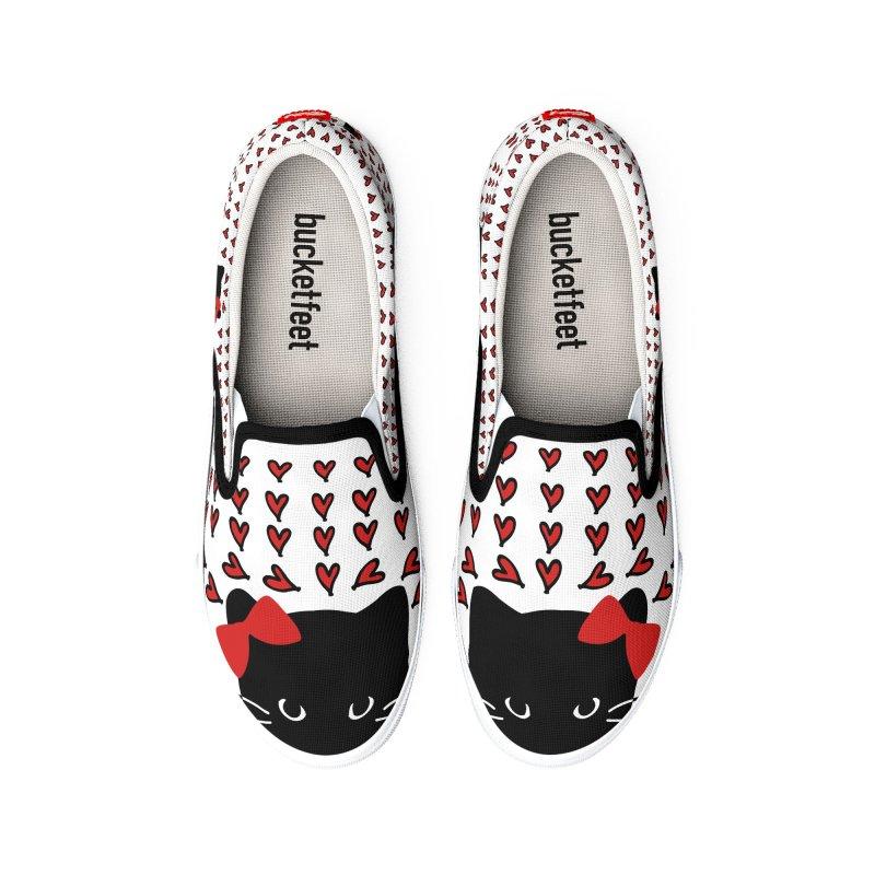 Love Love Cat Men's Shoes by cindyshim's Artist Shop