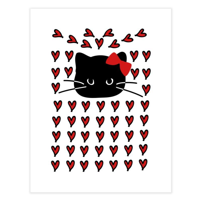 Love Love Cat Home Fine Art Print by cindyshim's Artist Shop