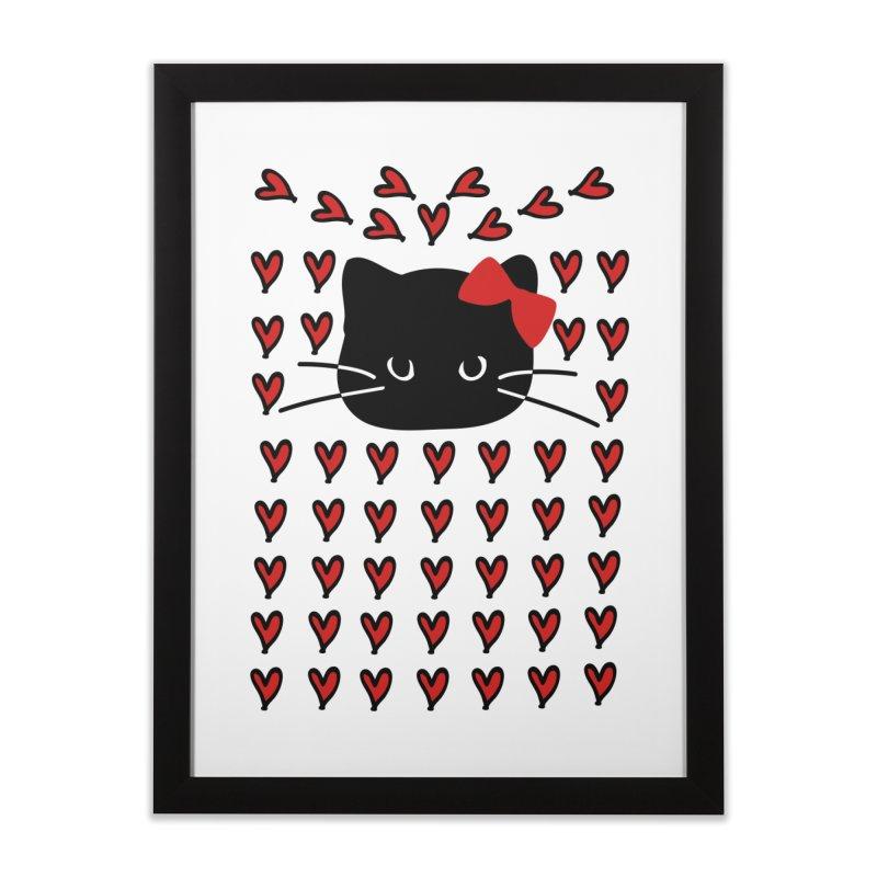 Love Love Cat Home Framed Fine Art Print by cindyshim's Artist Shop
