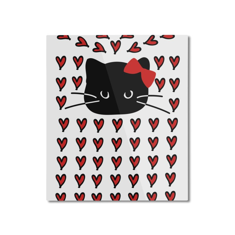 Love Love Cat Home Mounted Aluminum Print by cindyshim's Artist Shop