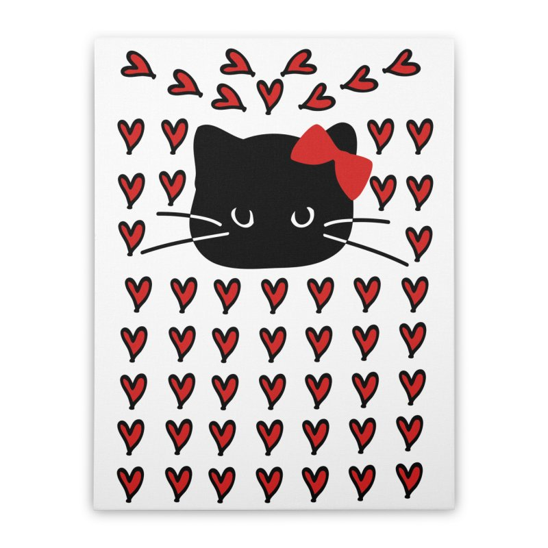 Love Love Cat Home Stretched Canvas by cindyshim's Artist Shop