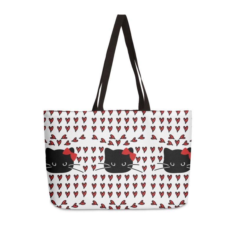 Love Love Cat Accessories Weekender Bag Bag by cindyshim's Artist Shop