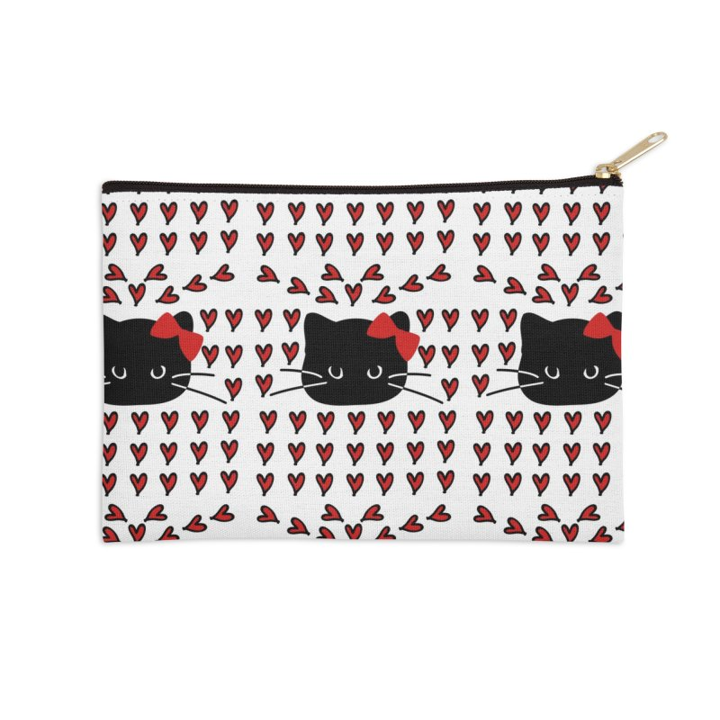 Love Love Cat Accessories Zip Pouch by cindyshim's Artist Shop