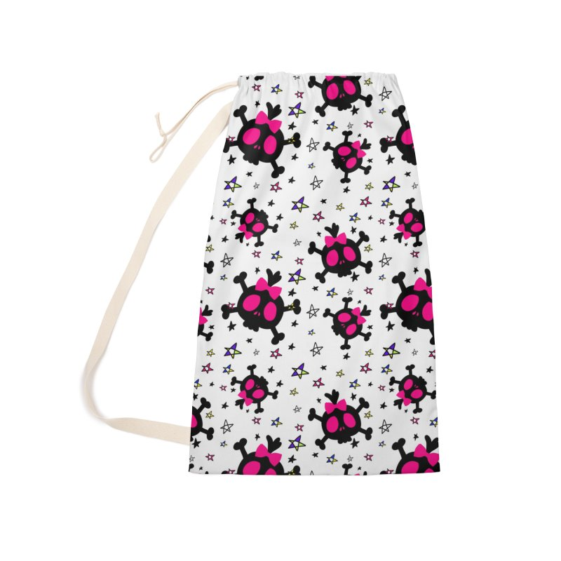 Cute skull Accessories Laundry Bag Bag by cindyshim's Artist Shop