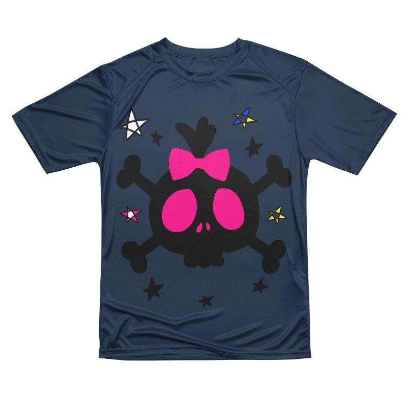 Cute skull Women's Performance Unisex T-Shirt by cindyshim's Artist Shop