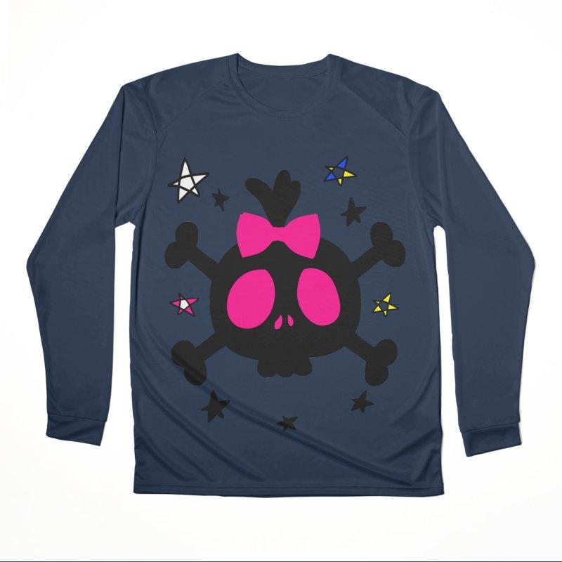 Cute skull Women's Performance Unisex Longsleeve T-Shirt by cindyshim's Artist Shop
