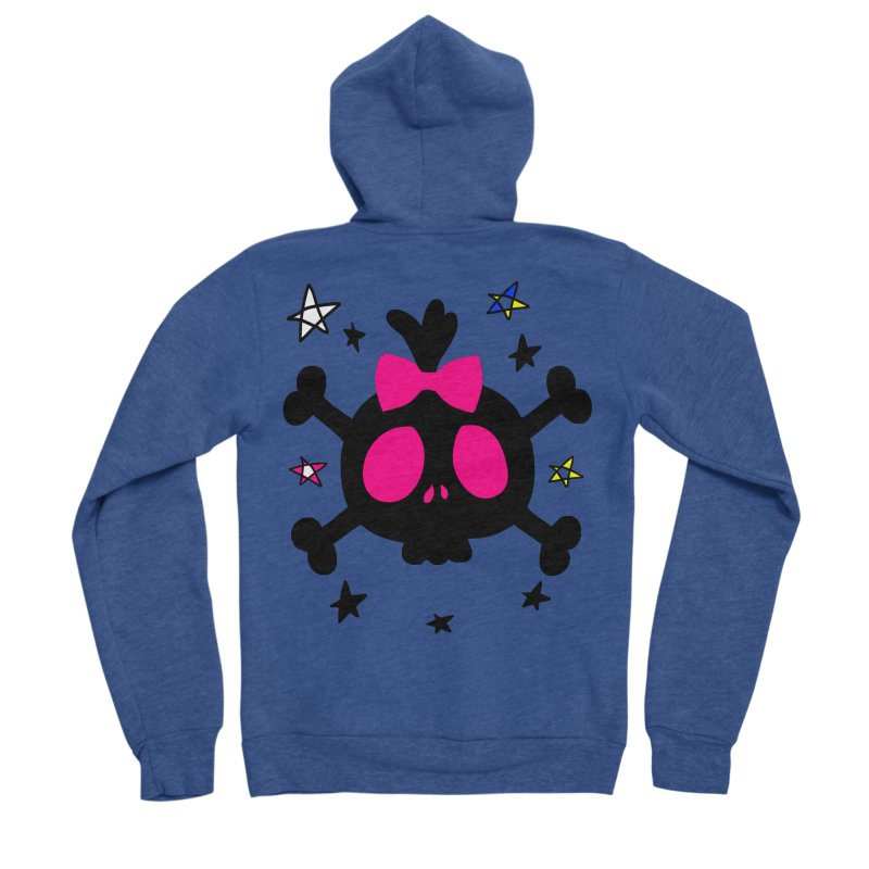 Cute skull Women's Sponge Fleece Zip-Up Hoody by cindyshim's Artist Shop