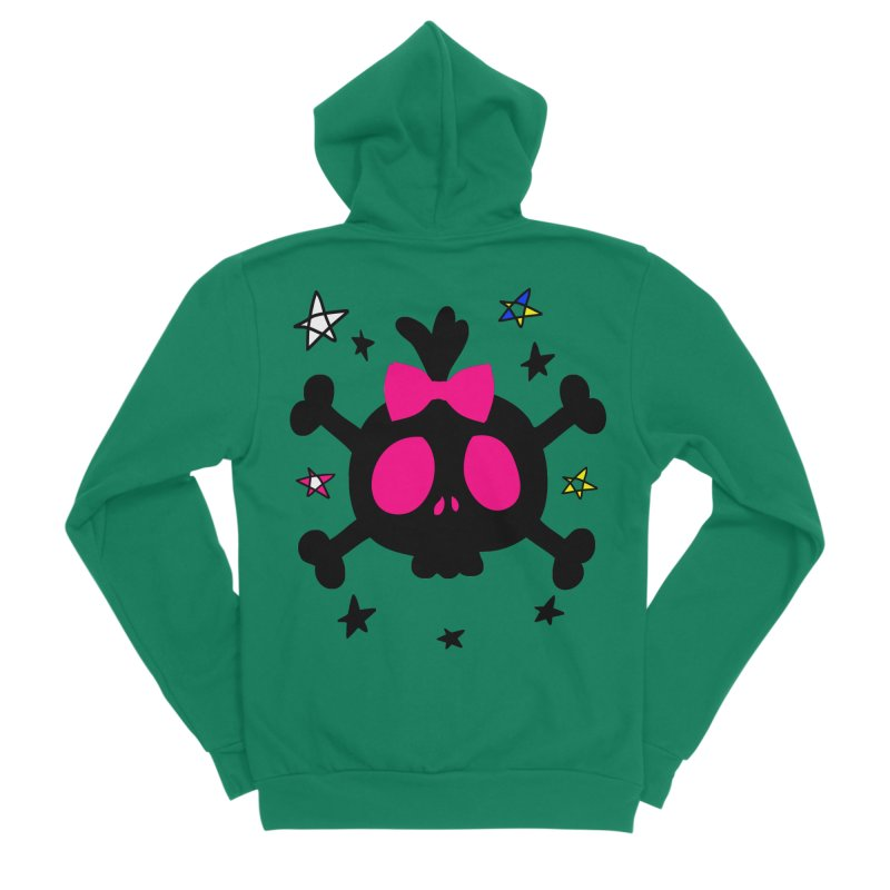 Cute skull Men's Sponge Fleece Zip-Up Hoody by cindyshim's Artist Shop