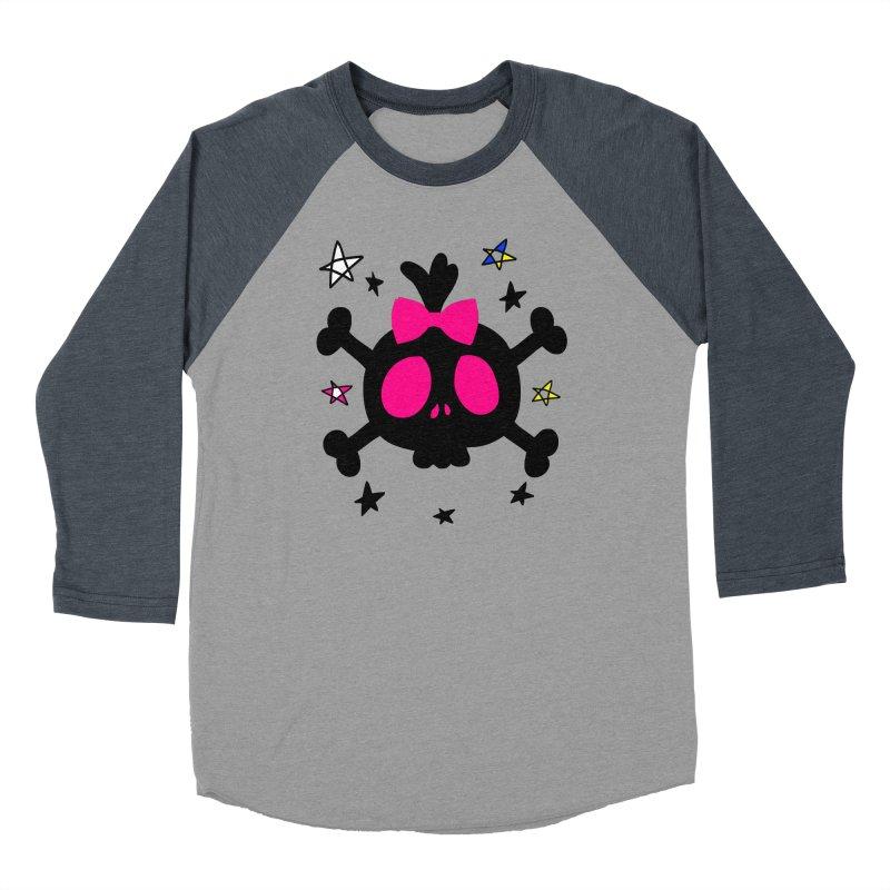 Cute skull Women's Baseball Triblend Longsleeve T-Shirt by cindyshim's Artist Shop
