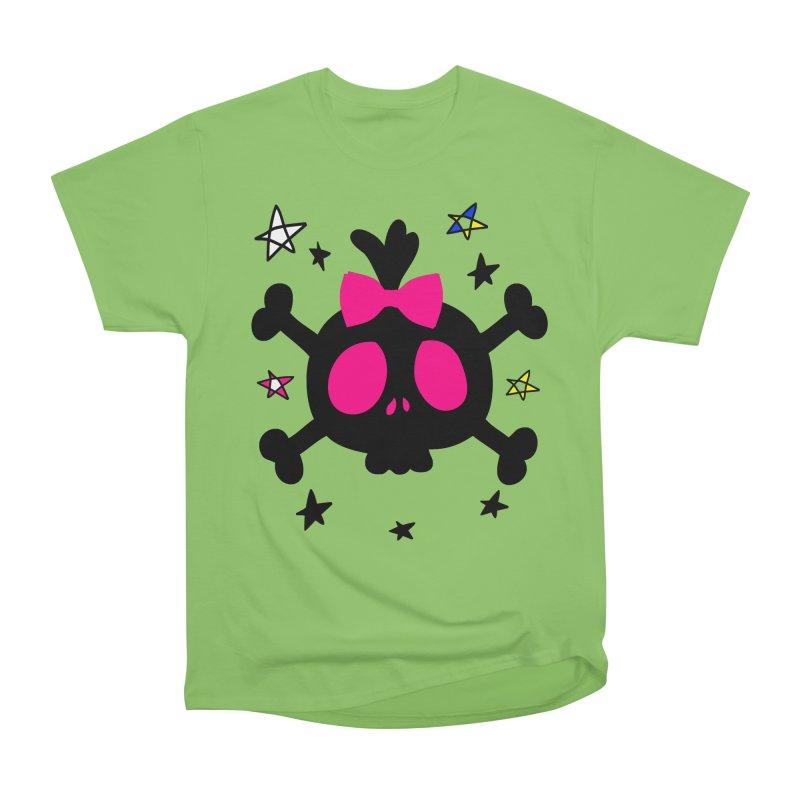 Cute skull Women's Heavyweight Unisex T-Shirt by cindyshim's Artist Shop