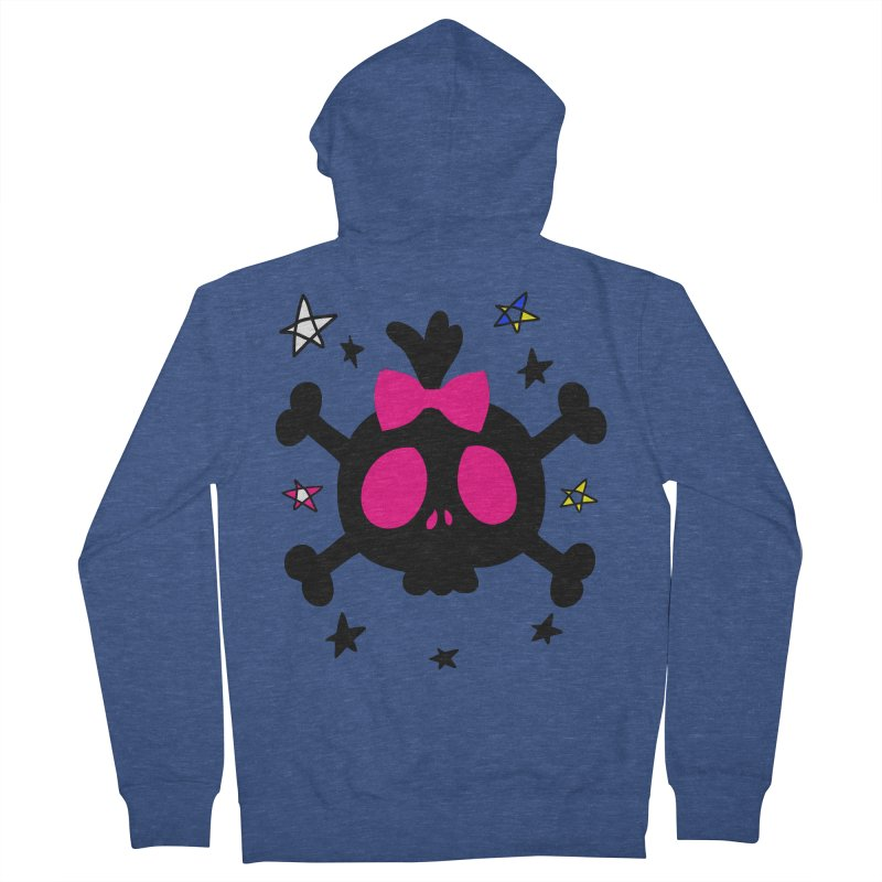 Cute skull Women's French Terry Zip-Up Hoody by cindyshim's Artist Shop