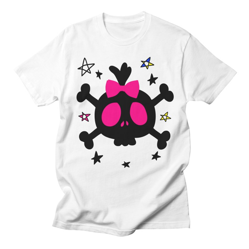 Cute skull Men's Regular T-Shirt by cindyshim's Artist Shop