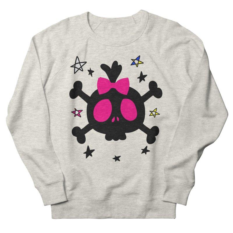 Cute skull Women's French Terry Sweatshirt by cindyshim's Artist Shop