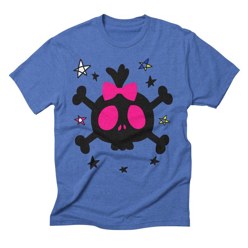 Cute skull Men's Triblend T-Shirt by cindyshim's Artist Shop