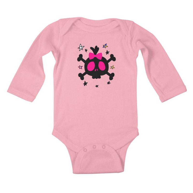 Cute skull Kids Baby Longsleeve Bodysuit by cindyshim's Artist Shop