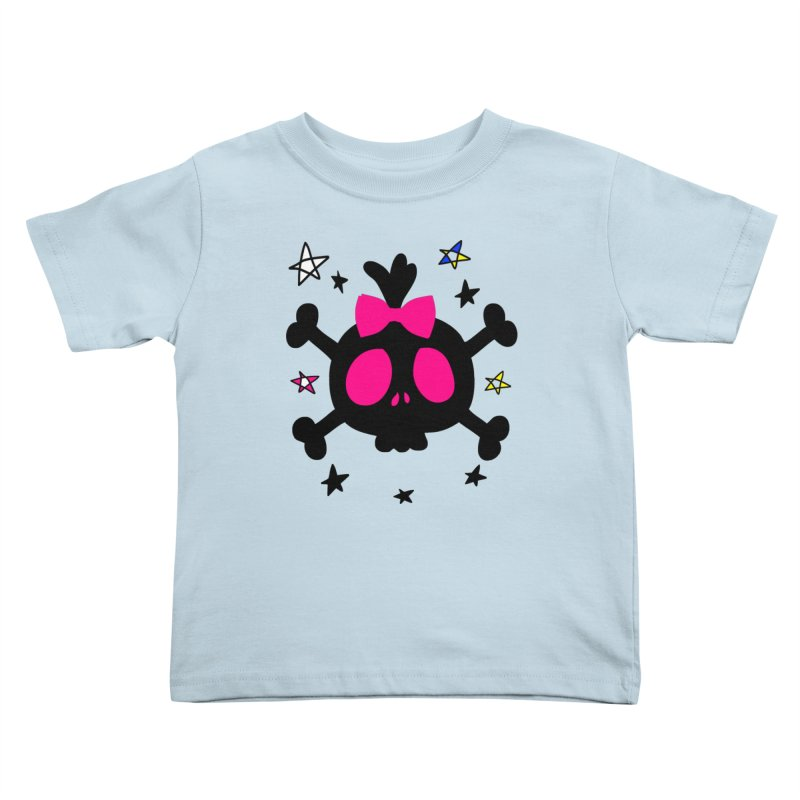 Cute skull Kids Toddler T-Shirt by cindyshim's Artist Shop