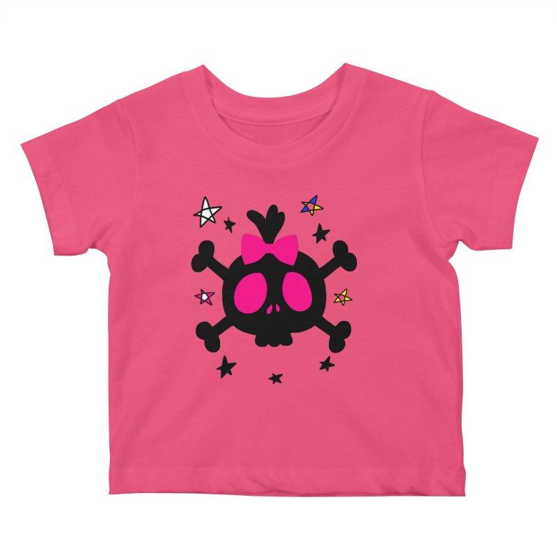 Cute skull Kids Baby T-Shirt by cindyshim's Artist Shop