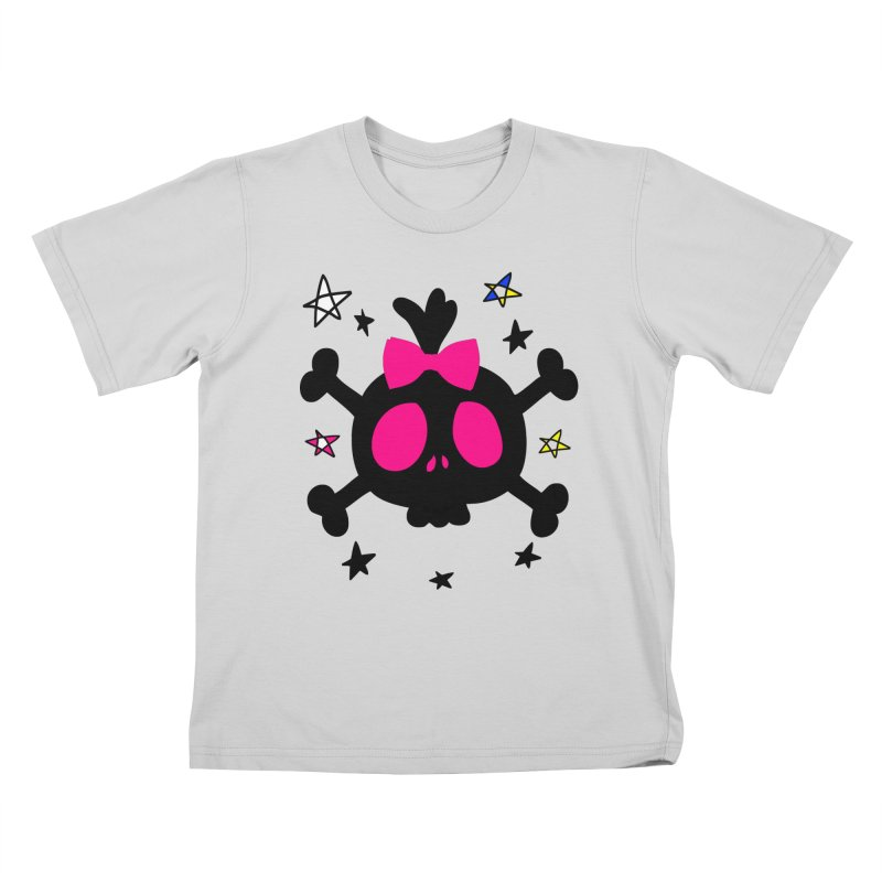 Cute skull Kids T-Shirt by cindyshim's Artist Shop