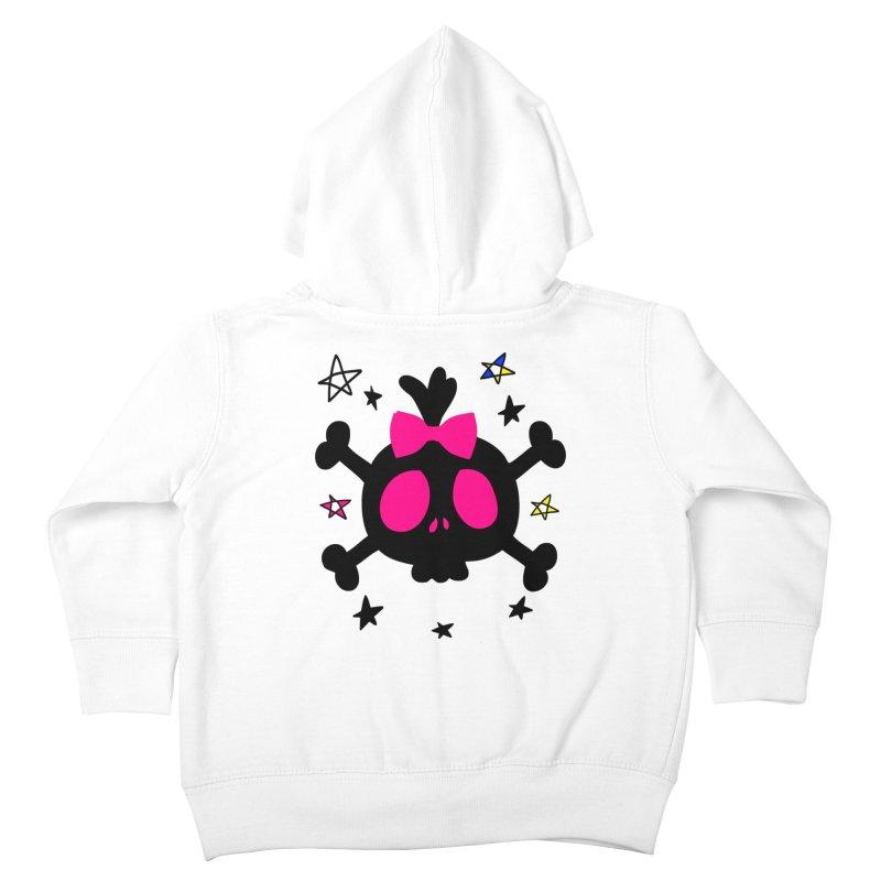 Cute skull Kids Toddler Zip-Up Hoody by cindyshim's Artist Shop