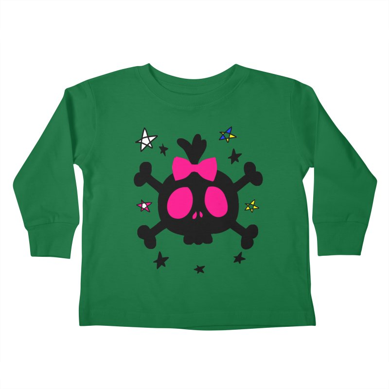 Cute skull Kids Toddler Longsleeve T-Shirt by cindyshim's Artist Shop