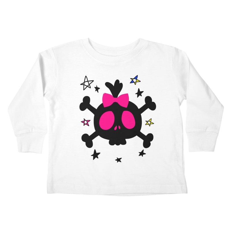 Cute skull Kids Toddler Longsleeve T-Shirt by cindyshim's Artist Shop