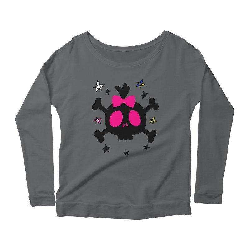Cute skull Women's Longsleeve T-Shirt by cindyshim's Artist Shop