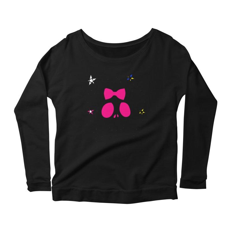 Cute skull Women's Scoop Neck Longsleeve T-Shirt by cindyshim's Artist Shop