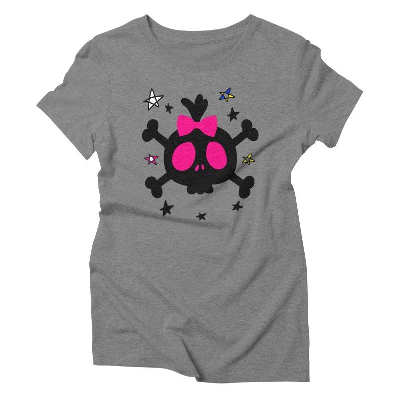 Cute skull Women's Triblend T-Shirt by cindyshim's Artist Shop