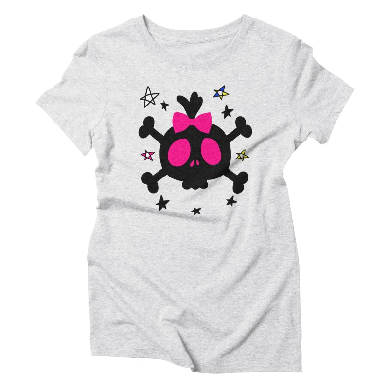 Cute skull Women's Triblend T-Shirt by cindyshim's Artist Shop