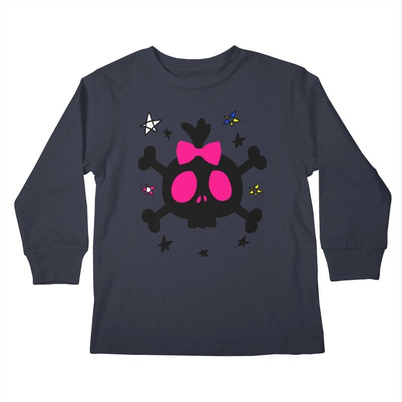 Cute skull Kids Longsleeve T-Shirt by cindyshim's Artist Shop