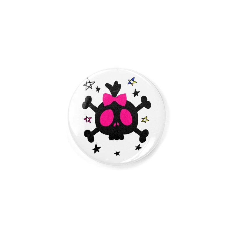 Cute skull Accessories Button by cindyshim's Artist Shop