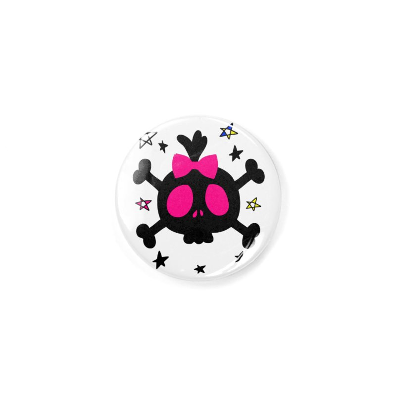 Cute skull Accessories Button by cindyshim's Artist Shop