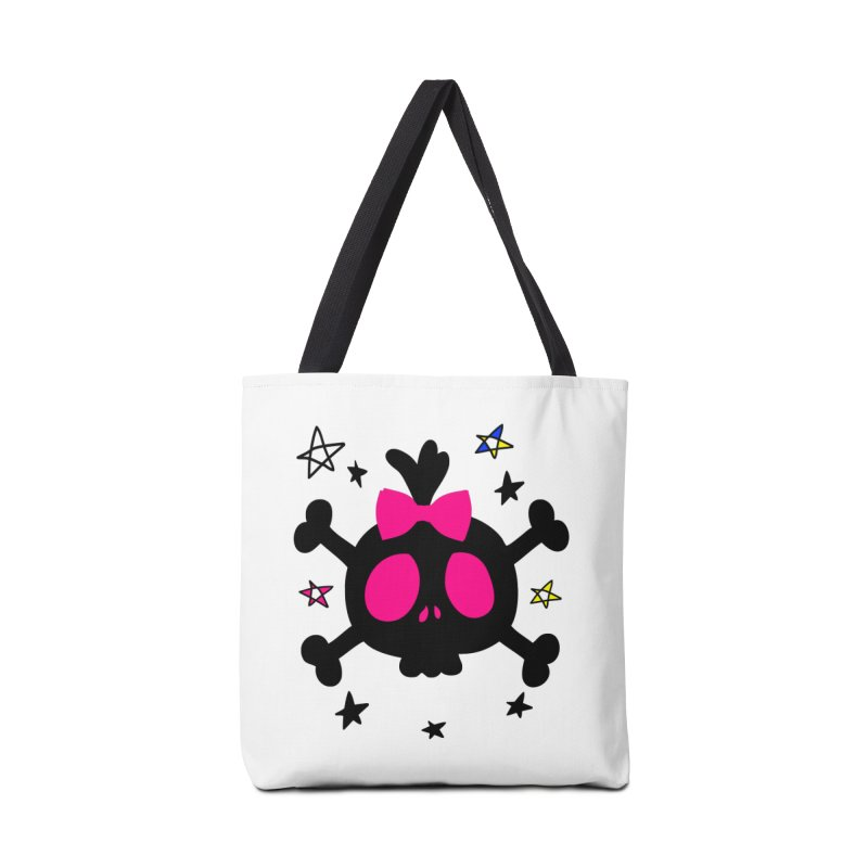 Cute skull Accessories Tote Bag Bag by cindyshim's Artist Shop