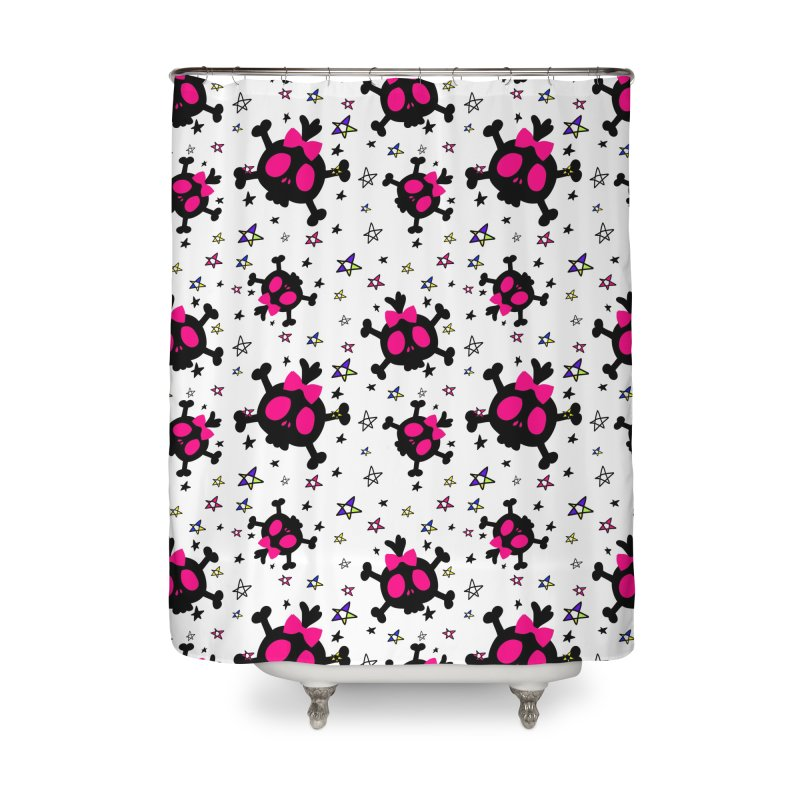 Cute skull Home Shower Curtain by cindyshim's Artist Shop