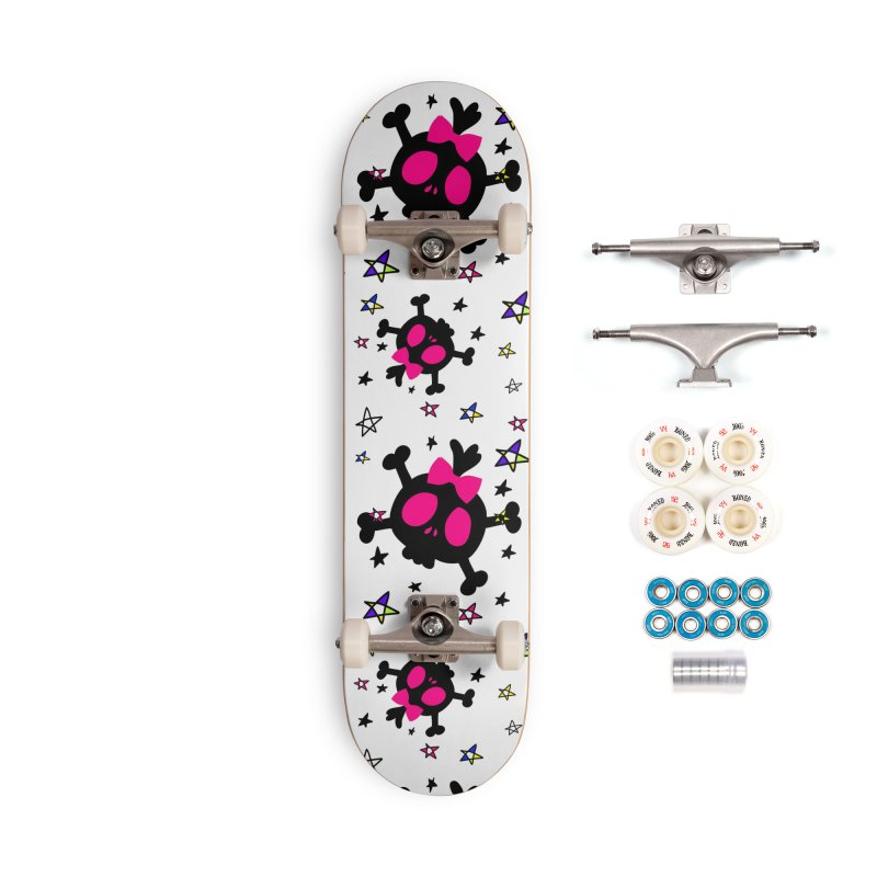 Cute skull Accessories Complete - Premium Skateboard by cindyshim's Artist Shop