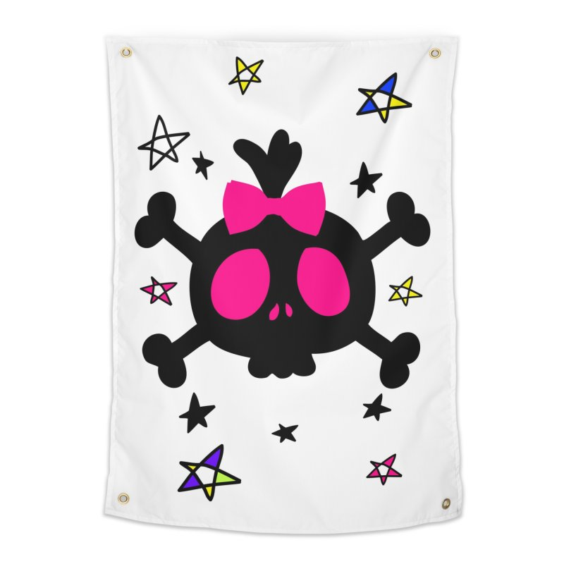 Cute skull Home Tapestry by cindyshim's Artist Shop