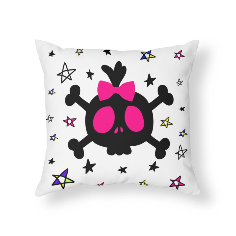 Cute skull Home Throw Pillow by cindyshim's Artist Shop