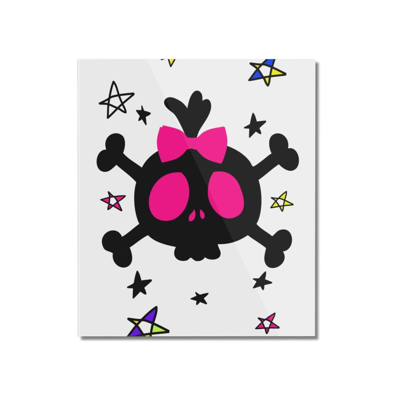 Cute skull Home Mounted Acrylic Print by cindyshim's Artist Shop