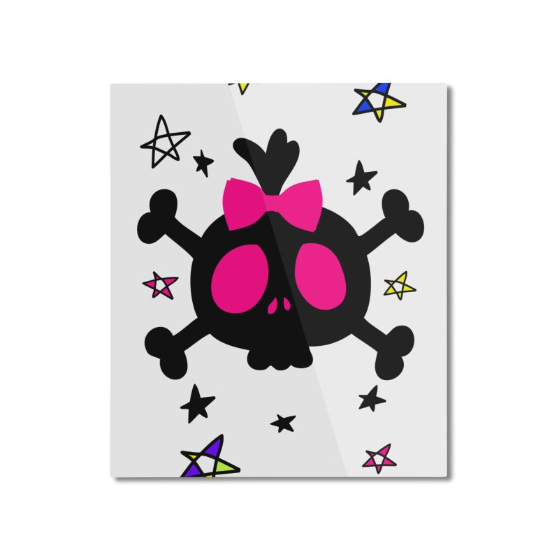 Cute skull Home Mounted Aluminum Print by cindyshim's Artist Shop