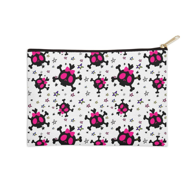 Cute skull Accessories Zip Pouch by cindyshim's Artist Shop