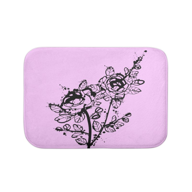 The roses Home Bath Mat by cindyshim's Artist Shop