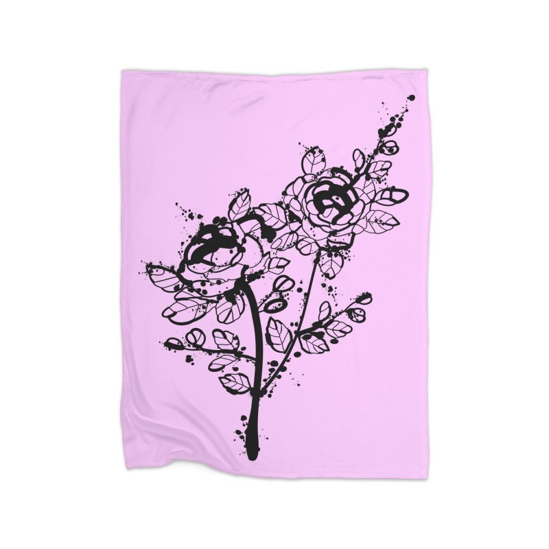 The roses Home Fleece Blanket Blanket by cindyshim's Artist Shop