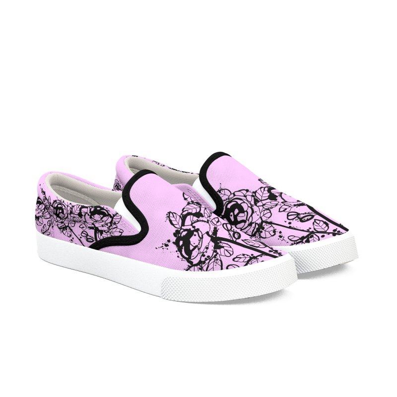 The roses Women's Slip-On Shoes by cindyshim's Artist Shop