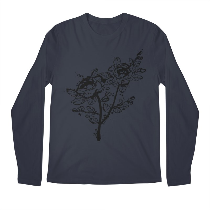 The roses Men's Regular Longsleeve T-Shirt by cindyshim's Artist Shop