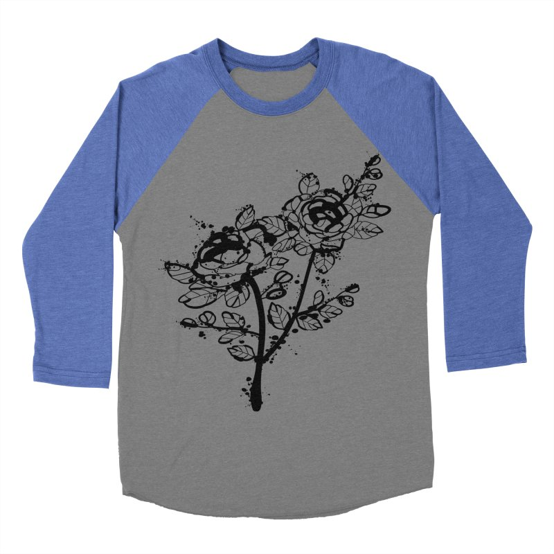 The roses Men's Baseball Triblend Longsleeve T-Shirt by cindyshim's Artist Shop