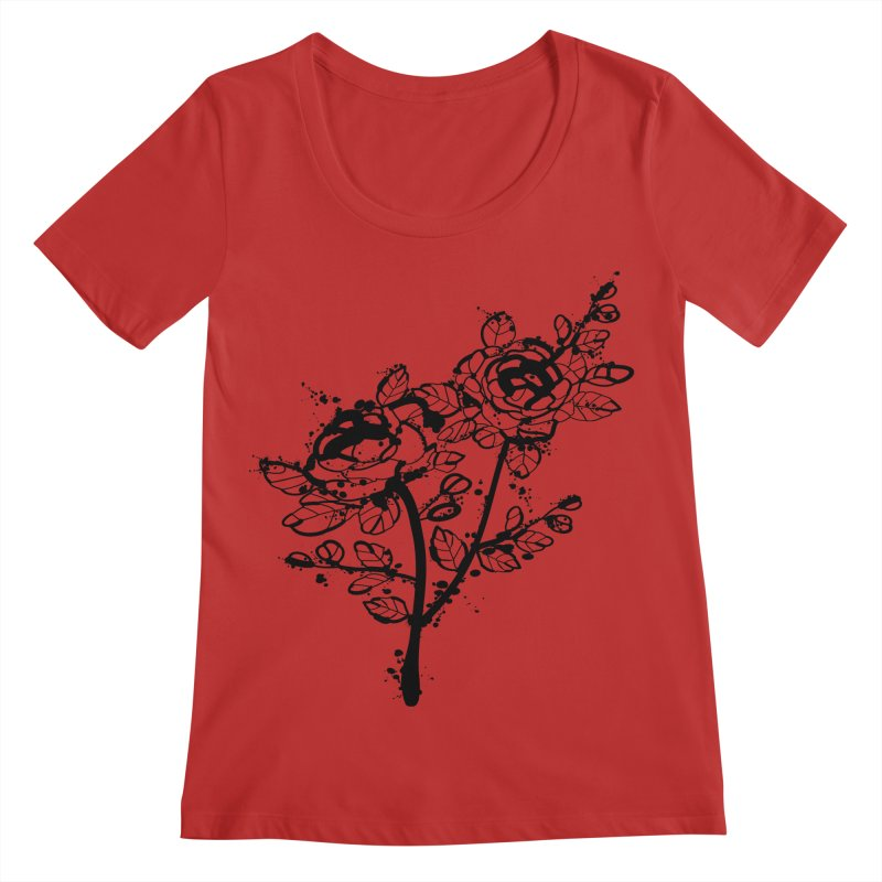 The roses Women's Regular Scoop Neck by cindyshim's Artist Shop
