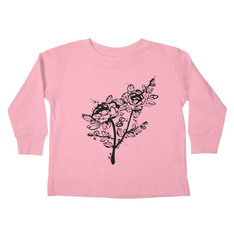 The roses Kids Toddler Longsleeve T-Shirt by cindyshim's Artist Shop
